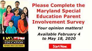 Maryland Special Education Parent Involvement Survey