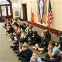 St. Michael Second Graders Visit Bishop Deshotel