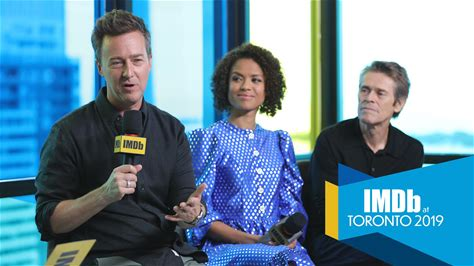 IMDb at Toronto International Film Festival -- Edward Norton describes the creative obstacles he faced during the long development period for 'Motherless Brooklyn' and what it was like to direct -- and act alongside -- Gugu Mbatha-Raw, Willem Dafoe, Alec Baldwin, Bruce Willis, and the rest of his incredible cast.