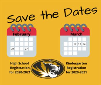 Upcoming Registrations for the 2020-2021 School Year