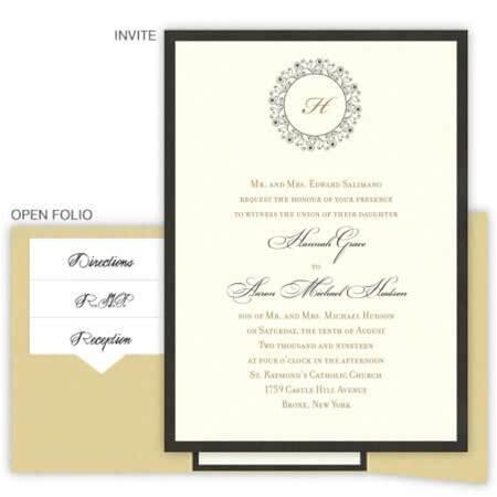 Hannah Folio Pocket Wedding Invitations