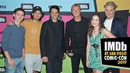 """IMDb at San Diego Comic-Con -- While Ralph Macchio and William Zabka discuss how """"Cobra Kai"""" is a martial arts spin on 'Bad Santa,' their co-stars Mary Mouser, Tanner Buchanan, and Xolo Maridueña acknowledge that the love triangle between their characters has become a main focus of the show."""