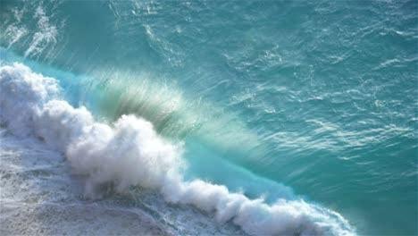 Turquoise Wave Crashing on a Beach