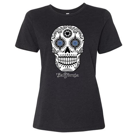 California Republic Sugar Skull Women's Relaxed Jersey Tee
