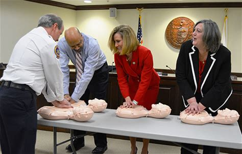 Commissioners demonstrate commitment to citizens' hearts on Valentine's Day