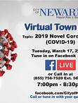MAYOR BARAKA AND DIRECTOR OF HEALTH AND COMMUNITY WELLNESS DR. WADE TO HOLD VIRTUAL TOWN HALL ON CORONAVIRUS City will provide updated information about COVID-19 and answer questions from residents