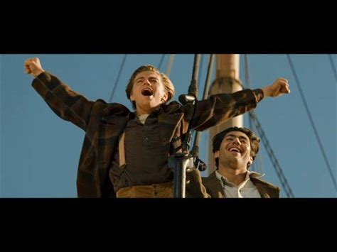 Titanic -- Jack exults at the prow of Titanic
