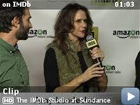"""The IMDb Studio at Sundance -- STARmeter Award winner Jeffrey Tambor's """"Transparent"""" co-star Amy Landecker shares her observations about working with him on the series."""