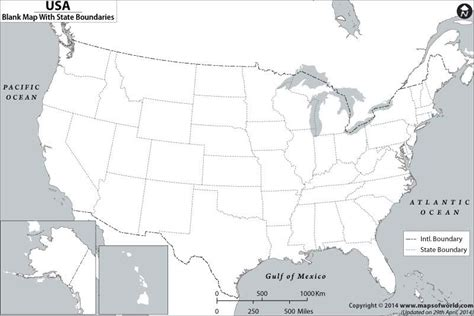 Blank Map of US US Blank Map