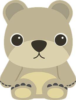 Animal, Bear, Cartoon, Children, Kids