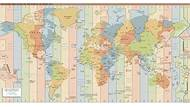 CIA Time Zone Map of the World Get the CIA World Time Zone Map.