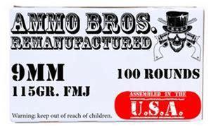 Ammo Bros Reloads 9mm 115gr 100rds