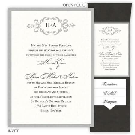Cecilia Folio Pocket Wedding Invitations