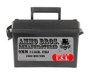 Ammo Bros Reloads 9mm 115gr 1000rds