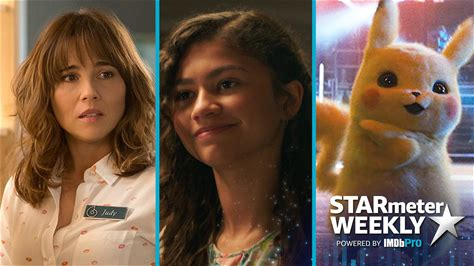 """STARmeter Weekly -- This week on """"STARmeter Weekly"""" we swing into action with a 'Spider-Man: Far From Home' star, take a look at Linda Cardellini's amazing 2019, and find out which 'Pokémon Detective Pikachu' star fans couldn't get enough of."""