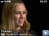 "The Miracle Season -- After the tragic death of star volleyball player Caroline ""Line"" Found, a team of dispirited high school girls must band together under the guidance of their tough-love coach in hopes of winning the state championship."