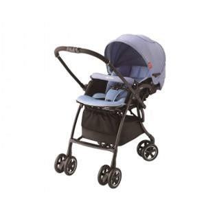 Aprica LUXUNA Comfort 自動四輪雙向嬰幼兒手推車 (藍色)