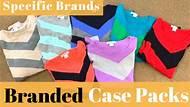 Branded Case Packs (specific brands)