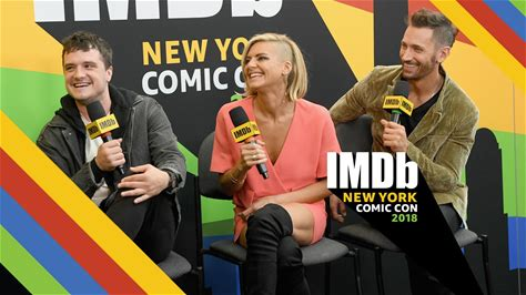 """IMDb at New York Comic Con -- Stars Josh Hutcherson, Eliza Coupe, and Derek Wilson share details on some of the crazy scenes in store for """"Future Man"""" fans in Season 2."""