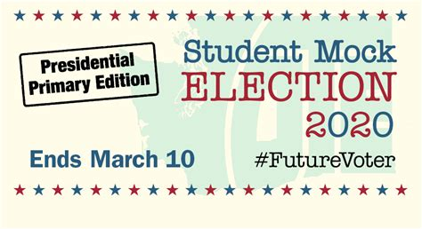 The Presidential Primary 2020 student mock election now open!