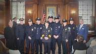 Mayor Sarno and Police Commissioner Clapprood Held a Pinning Ceremony for Police Officers Promotions – Including the First Hispanic Female Supervisor and a Breast Cancer Survivor