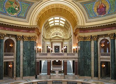 Image of the Wisconsin State Capitol Rotunda