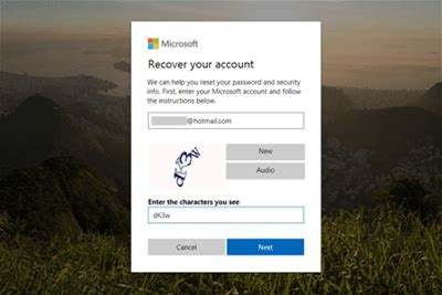 Forget Your Windows Live Hotmail Password? Here's How to Get It