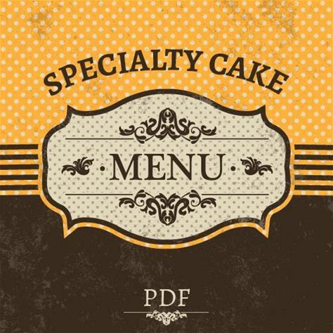 Specialty Cake Menu