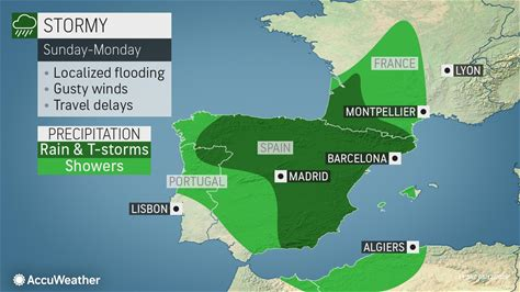 Rain, thunderstorms to soak parts of southwestern Europe