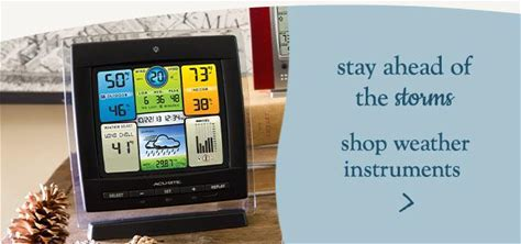 Stay ahead of the storms. Shop Weather Instruments.