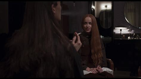 "Suspiria -- Madame Blanc (Tilda Swinton) and Susie (Dakota Johnson) discuss the fate of the lead role in their latest performance, ""Volk."""