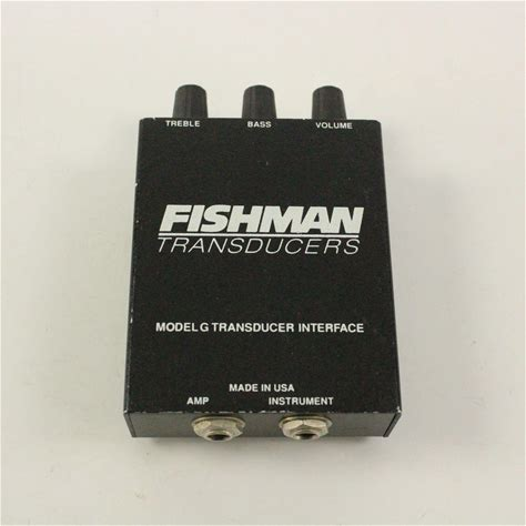 Used Fishman TRANSDUCERS MODEL G PRE-AMP