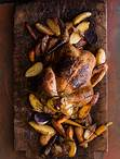 Roasted Chicken Roasted Chicken Serves 4 One 3- to 4-pound whole organic chicken, rinsed inside and out, patted dry 4 tablespoons Herb