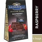 Intense Dark Chocolate Raspberry Radiance SQUARES Medium Bags (Case of 6)