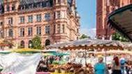 """Market breakfast Enjoy the unique atmosphere of a market breakfast in the heart of Wiesbaden's city centre. The season starts on March 21st under the motto """"Spring Pleasure""""."""