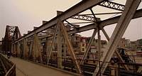 The Long Bien Bridge of Hanoi was designed by Alexandre Gustav Eiffel, creator of the Eiffel Tower and Statue of Liberty