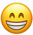 A version of the grinning face showing smiling eyes. This emoji previously looked closer to the ...
