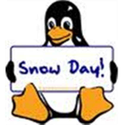 penguin-snow day clip art for roblox t-shirt - Roblox
