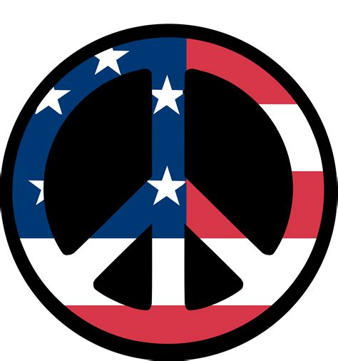 clipartist.net » Clip Art » us Flag Peace Symbol ...