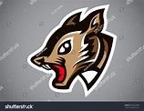 Squirrel Head Gray Shield Logo Vector Stock Vector ...
