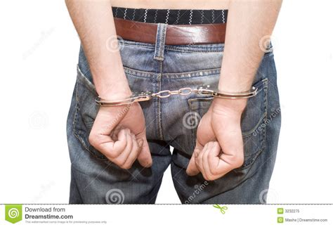 Person In Handcuffs. Royalty Free Stock Photo - Image: 3232275