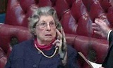 Watch: Baroness Trumpington gives V-sign to colleague in ...