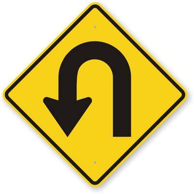 U Turn Traffic Sign, SKU: K-7180