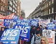 Thousands march to protest an NHS in intensive care ...