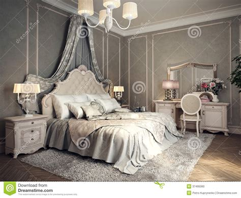 Classic bedroom interior stock illustration. Illustration ...
