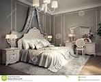 Classic bedroom interior stock illustration. Illustration ...
