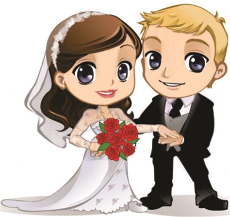 Dibujos. Clipart. Digi stamp - Novios. Bodas. Wedding ...