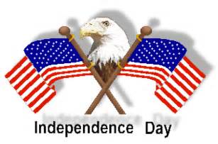 Independence Day clip art of U.S.A. crossed flags and eagles and flags ...