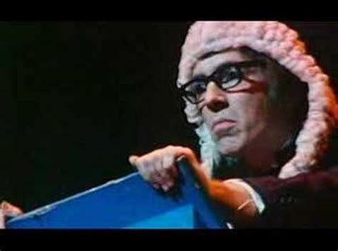 Peter Cook's biased judge sketch and its background - YouTube