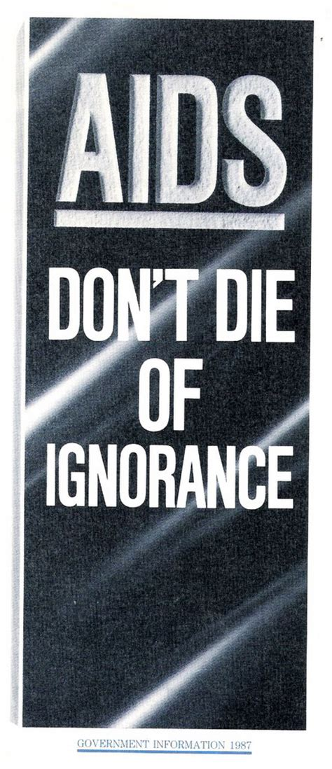 '80s Actual: AIDS - Don't Die Of Ignorance...